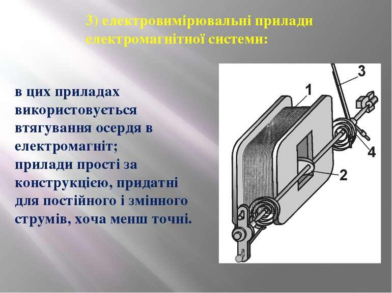 3) електровимірювальні прилади електромагнітної системи: в цих приладах викор...