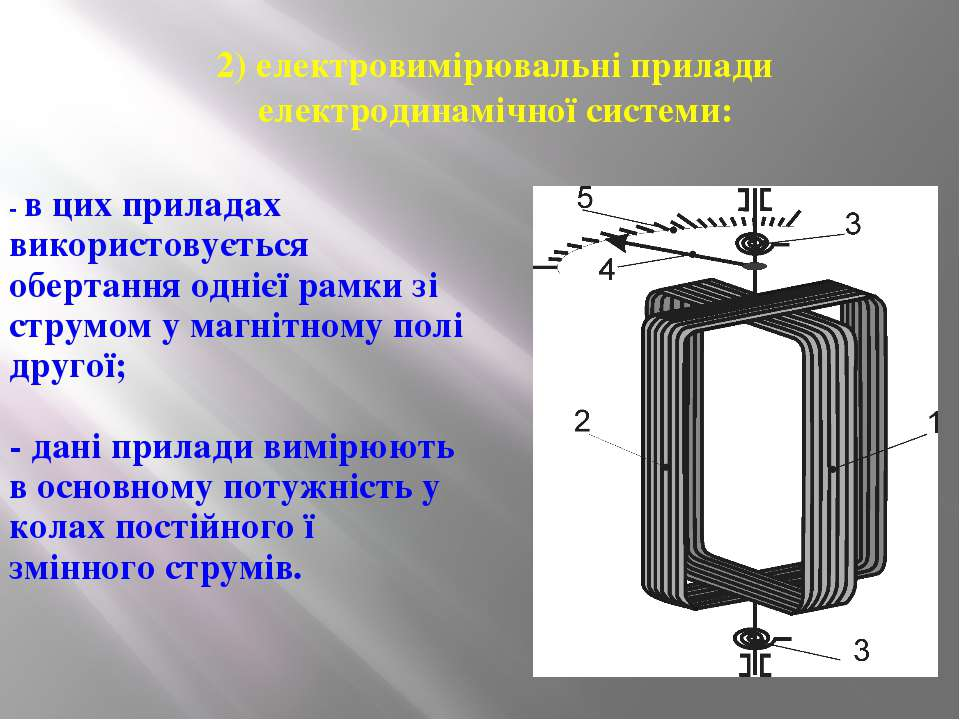 2) електровимірювальні прилади електродинамічної системи: - в цих приладах ви...
