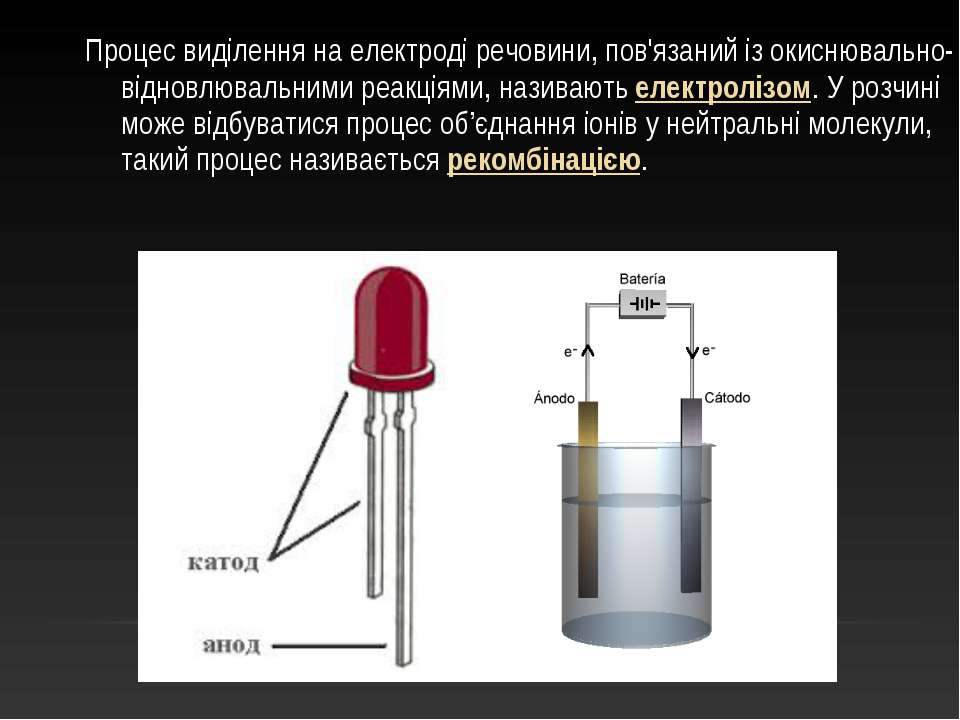 Процес виділення на електроді речовини, пов'язаний із окиснювально-відновлюва...