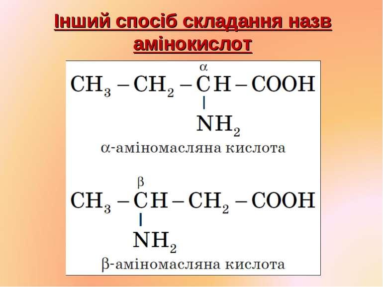 Інший спосіб складання назв амінокислот