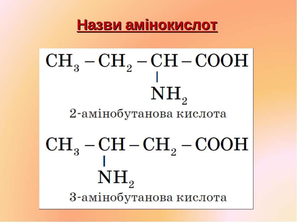 Назви амінокислот
