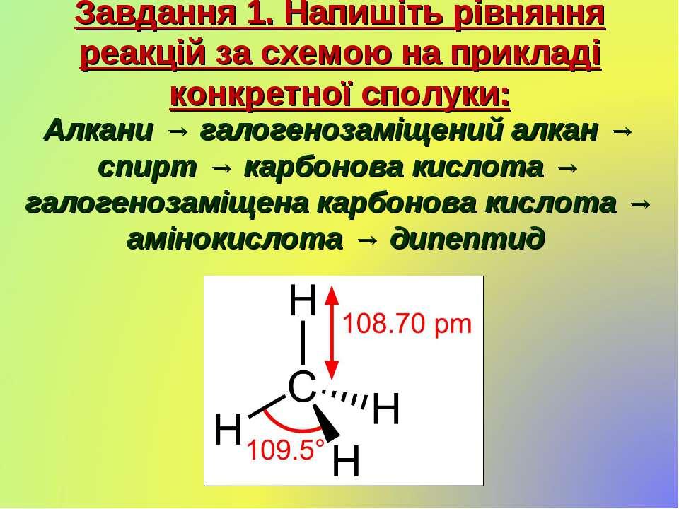 Завдання 1. Напишіть рівняння реакцій за схемою на прикладі конкретної сполук...