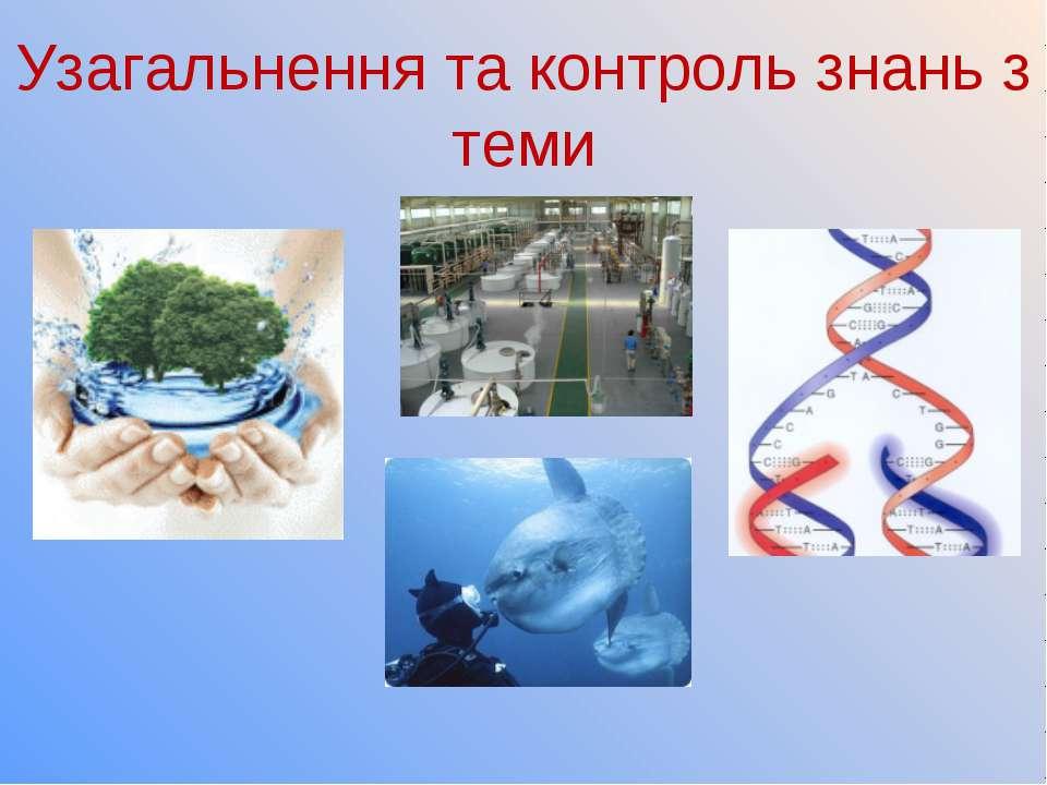 Узагальнення та контроль знань з теми