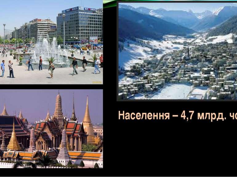 . . Населення – 4,7 млрд. чоловік
