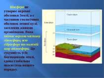 Біосфера не утворює окремої оболонки Землі, а є частиною геологічних оболонок...