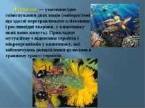 Мутуалізм — узаємовигідне співіснування двох видів (найпростіші, що здатні пе...