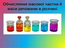 Обчислення масової частки й маси речовини в розчині