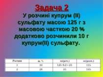 Задача 2 У розчині купрум (ІІ) сульфату масою 125 г з масовою часткою 20 % до...