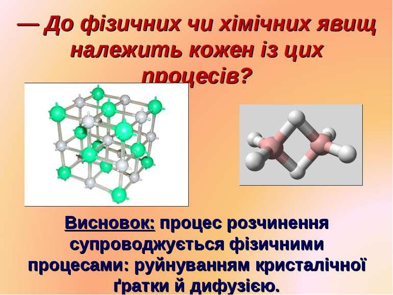 — До фізичних чи хімічних явищ належить кожен із цих процесів? Висновок: проц...