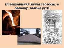 Виготовлення заліза сьогодні, в давнину, залізна руда