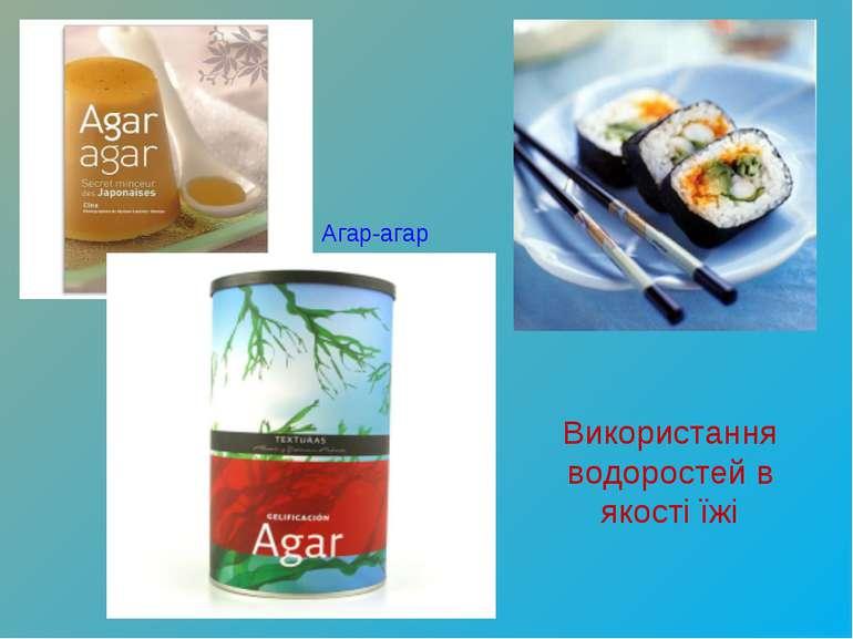 Агар-агар Використання водоростей в якості їжі