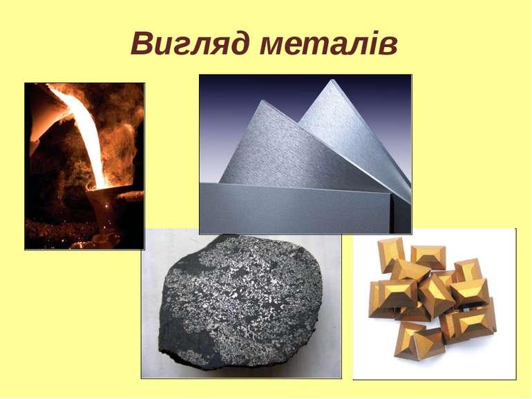 Вигляд металів