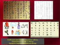Найбільше цивілізаційне відкриття – абетка. Порівняйте ієрогліфи та абетку. П...