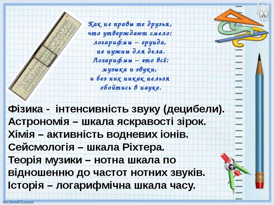 Как не правы те друзья, что утверждают смело: логарифмы – ерунда, не нужны дл...