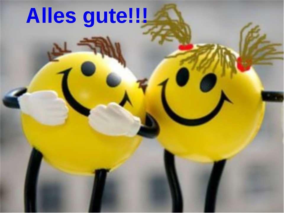 Alles gute!!!