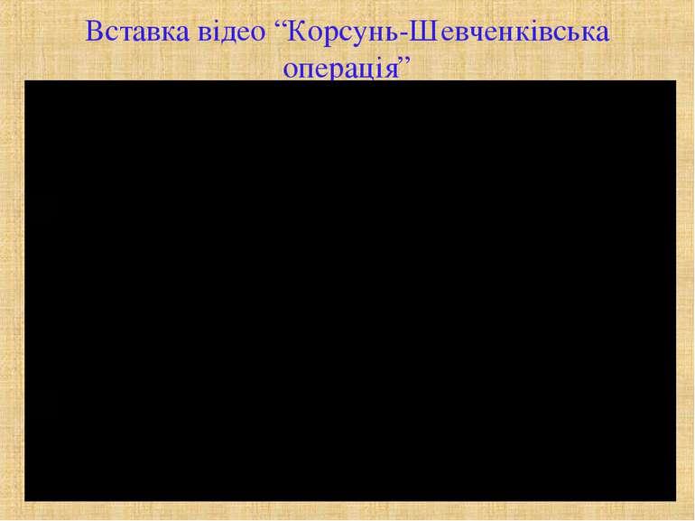 """Вставка відео """"Корсунь-Шевченківська операція"""""""