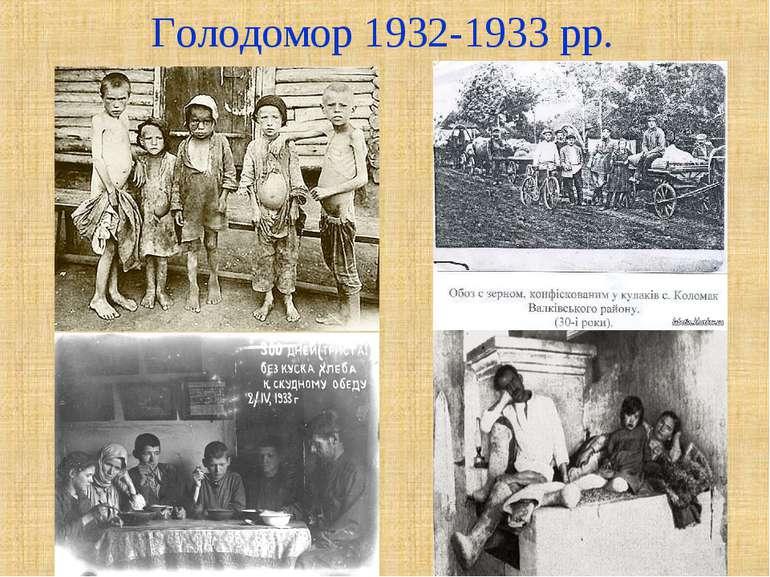 Голодомор 1932-1933 рр.