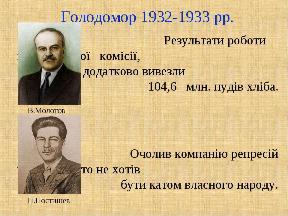 Голодомор 1932-1933 рр. Результати роботи надзвичайної комісії, з України дод...