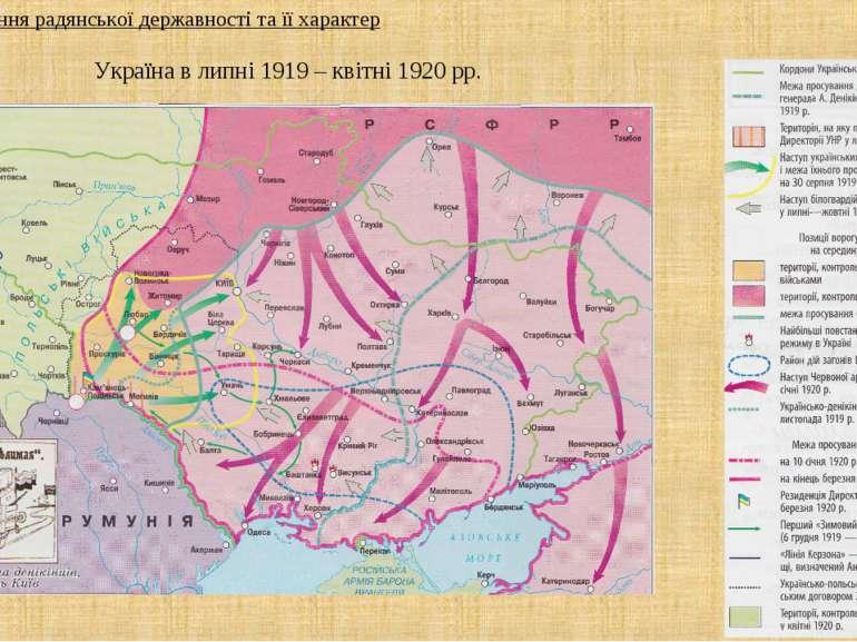 Україна в липні 1919 – квітні 1920 рр. 1. Запровадження радянської державност...