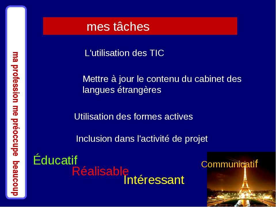 Utilisation des formes actives Mettre à jour le contenu du cabinet des langue...