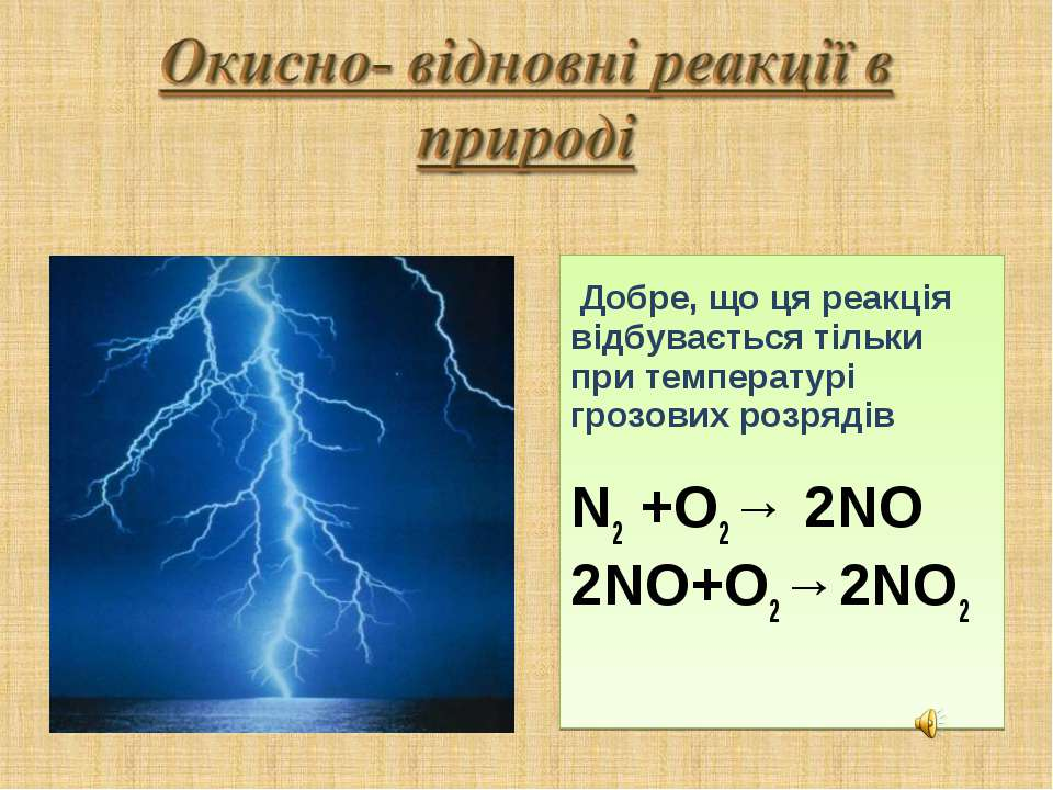 Добре, що ця реакція відбувається тільки при температурі грозових розрядів N2...
