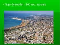 Порт-Элизабет - 800 тис. чоловік
