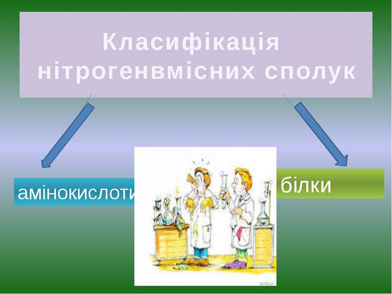 Класифікація нітрогенвмісних сполук амінокислоти білки