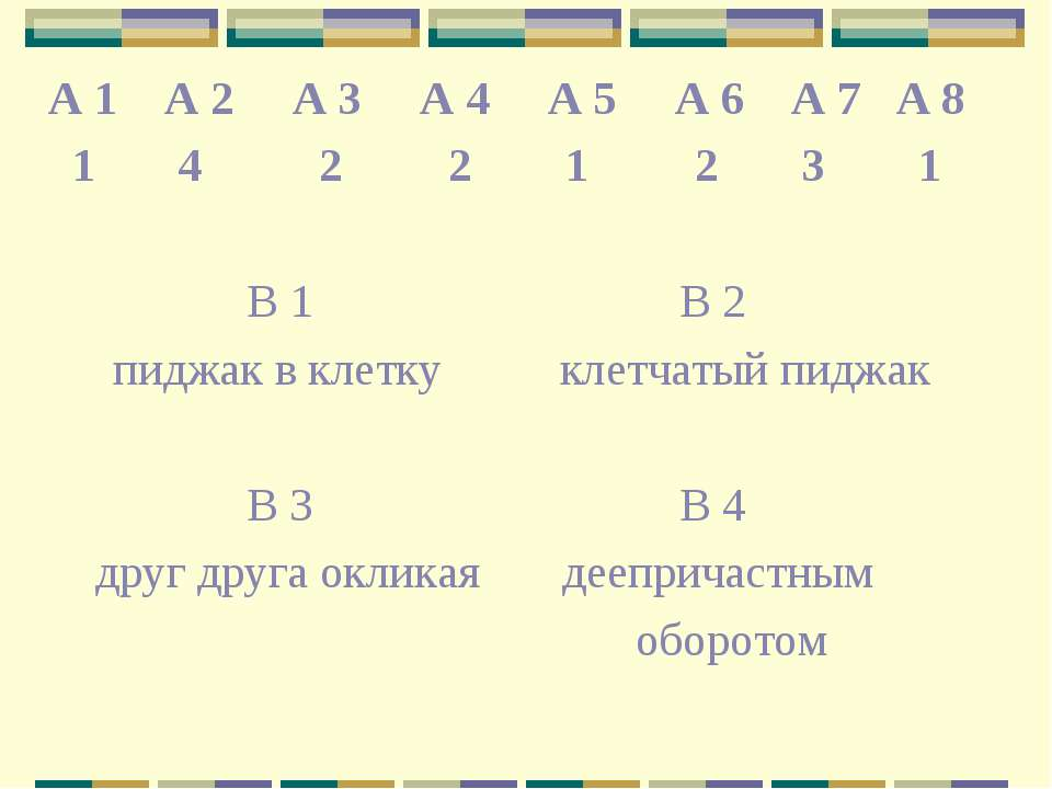 А 1 А 2 А 3 А 4 А 5 А 6 А 7 А 8 1 4 2 2 1 2 3 1 В 1 В 2 пиджак в клетку клетч...