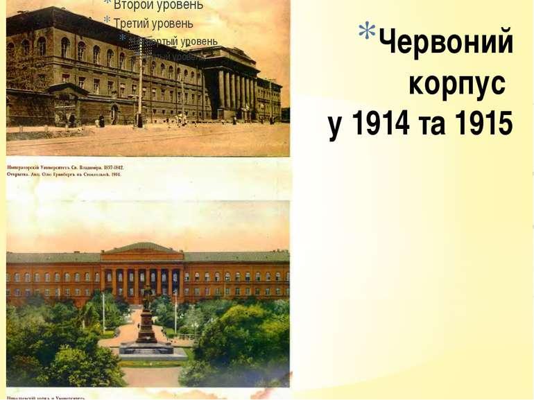 Червоний корпус у 1914 та 1915