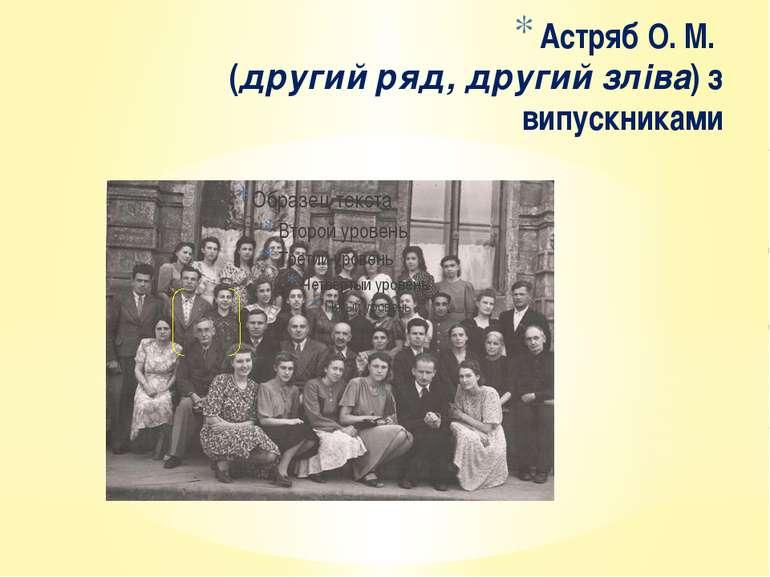Астряб О. М. (другий ряд, другий зліва) з випускниками