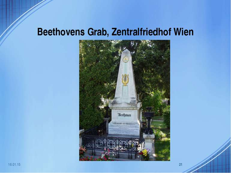 Beethovens Grab, Zentralfriedhof Wien * *