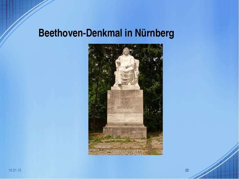 Beethoven-Denkmal in Nürnberg * *