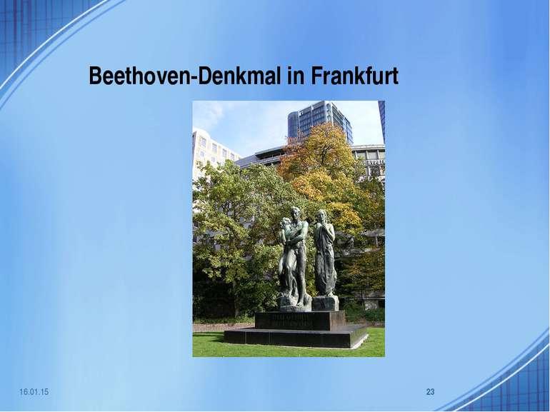 Beethoven-Denkmal in Frankfurt * *