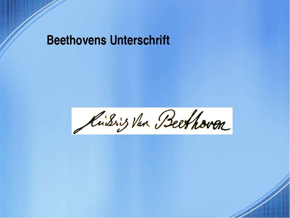 Beethovens Unterschrift