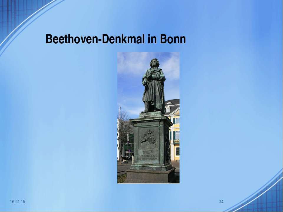 Beethoven-Denkmal in Bonn * *