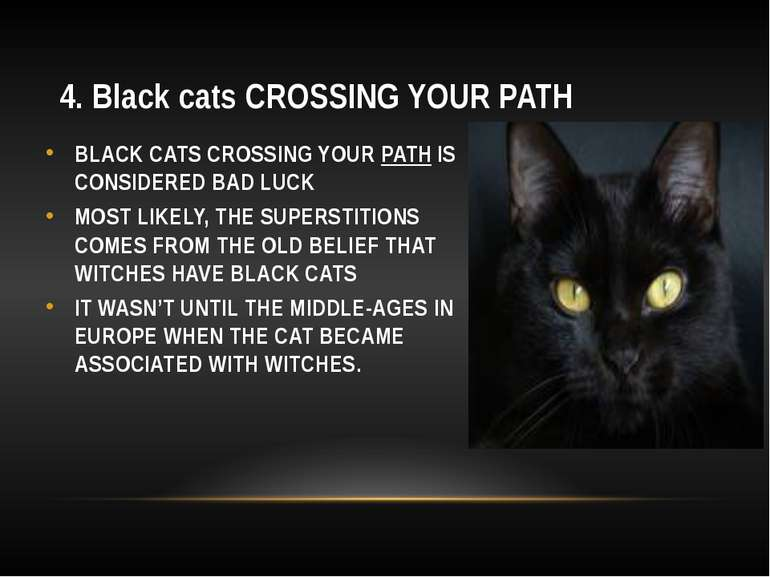 4. Black cats CROSSING YOUR PATH BLACK CATS CROSSING YOUR PATH IS CONSIDERED ...