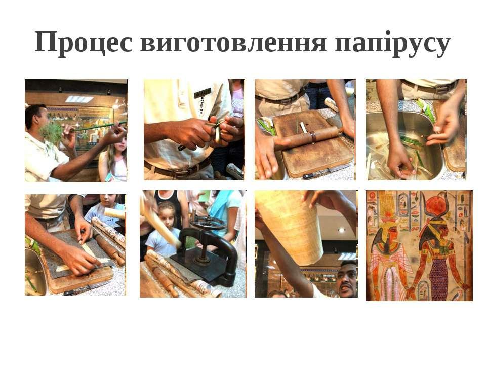 Процес виготовлення папірусу