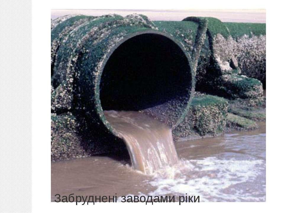 Забруднені заводами ріки