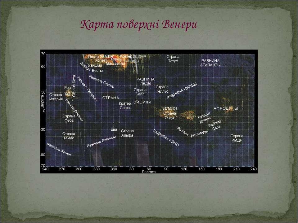Карта поверхні Венери