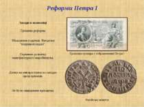 Грошова купюра з зображенням Петра І Російські монети Реформи Петра І