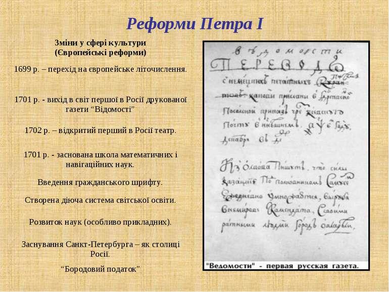 Реформи Петра І