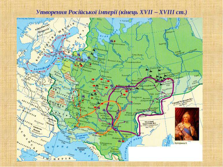Утворення Російської імперії (кінець ХVІІ – ХVІІІ ст.)