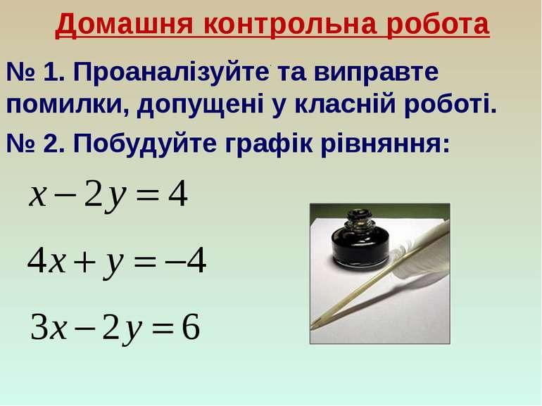 Домашня контрольна робота № 1. Проаналізуйте та виправте помилки, допущені у ...