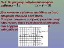 № 4. На рисунку побудовані графіки рівнянь Для кожного з рівнянь знайдіть за ...