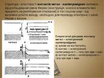 Структура і властивості контактів метал - напівпровідник залежать від розташу...