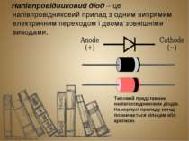 Напівпровідниковий діод – це напівпровідниковий прилад з одним випрямим елект...