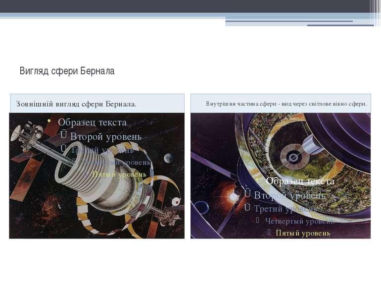 Вигляд сфери Бернала Зовнішній вигляд сфери Бернала. Внутрішня частина сфери ...