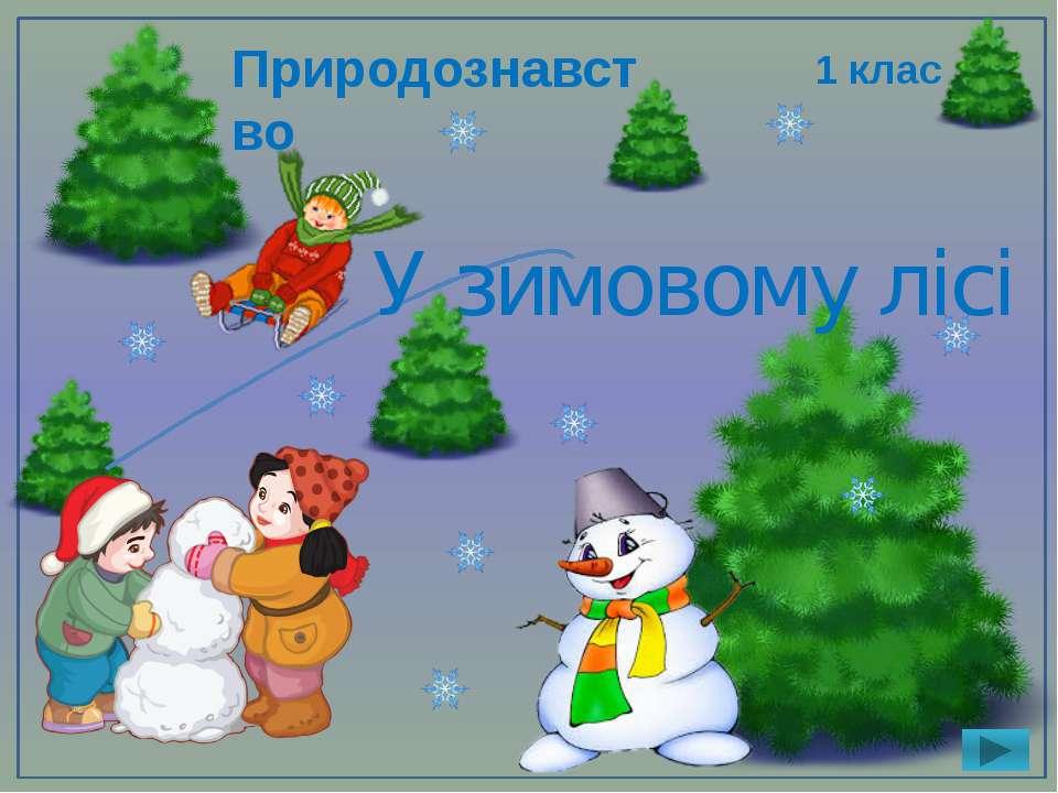У зимовому лісі 1 клас Природознавство