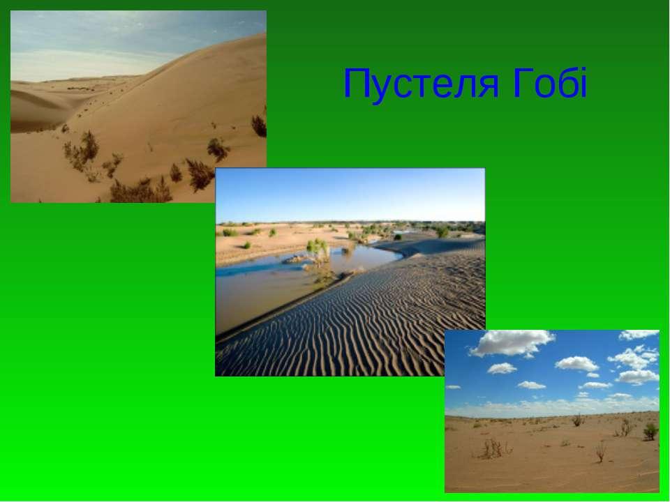 Пустеля Гобі