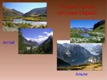 Головні гірські системи Євразії Алтай Альпи